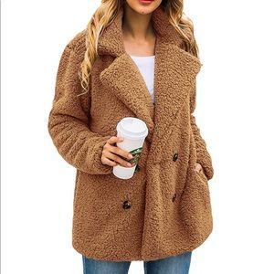 Lightweight Fuzzy Shearling Sherpa Fleece Jacket